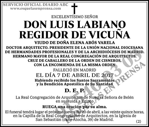 Luis Labiano Regidor de Vicuña